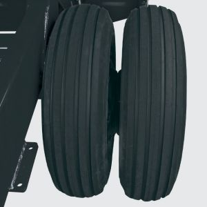 Double ground wheel with tyre 650x16.