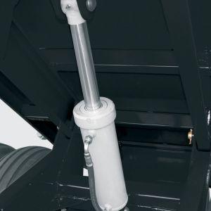 Dumping system by hydraulic cylinder.