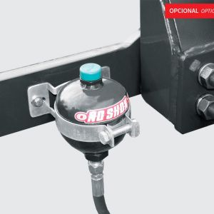 Acumulator for damping system (used for heavy loads).