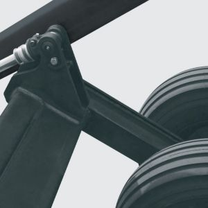 Pivot points are equipped with hard bushing far lasting and easier maintenance