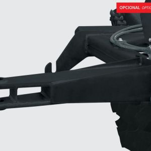 Rear hitch with hydraulic outlet to hitch other implements.