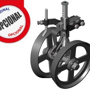Optionnel: En limitant la profondeur de la roue de fer avec l'arbre excentrique.