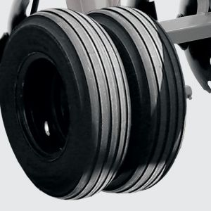 Double ground wheel with tyre 7.50x16 for models CRSG from 32 to 48 blades