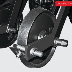 Cast iron compression wheel unit.