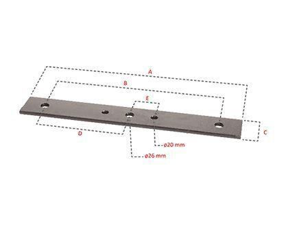 Barre porte-couteaux supérieur (670 mm)