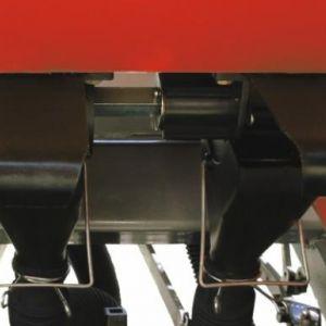 Sistema de distribuição de sementes por rotores acanalados.