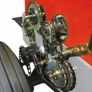 Sistema de transmissão com catraca para arremates.