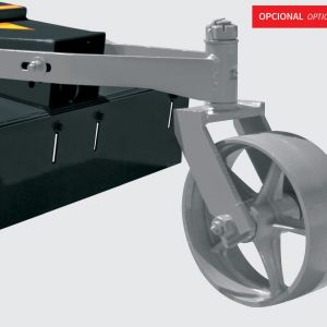 Tail wheel to help the rotary cutter level (Model RD).