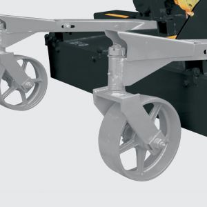 Rear wheels for increased stability and leveling