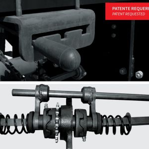 Finishing coupling system that allows work with only one side of the machine