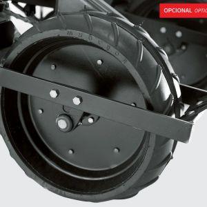 Rubber compression wheel.