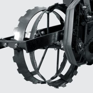 Iron compression wheel.