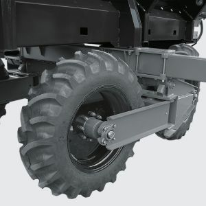 Cross System for effective and safe operation in all types of terrain, avoiding soil compactation.