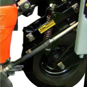 Sistema de transmissão da linha da semente através de eixo motrix.