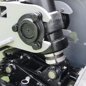 Maior articulação nas rodas laterais c/ pistões auxiliares de levante