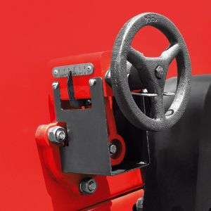 Helical steering wheel, that allows the rotor adjustment by milimeter with more possibilities of variations in the seed distribution.