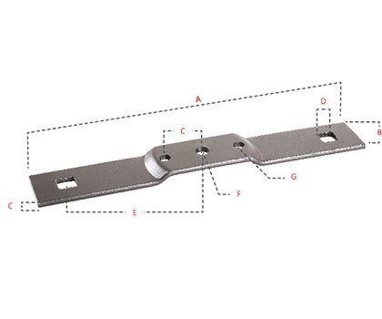 Barre porte-couteaux inférieur (670 mm)