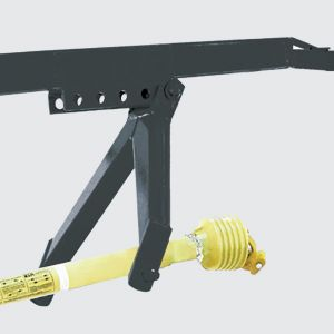 3º Point hitch with depth adjustment.