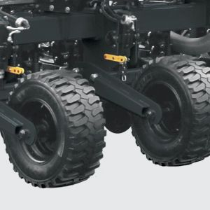 Wheelset System with high fluctuation tires to reduce soil compaction.