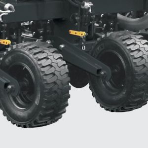 Wheelset System w/ tyres of high fluctuation to reduce soil compaction.